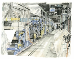 St Cuthberts Mill Mould Machine - by Kim Lintern